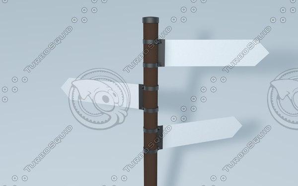 3d model sign post