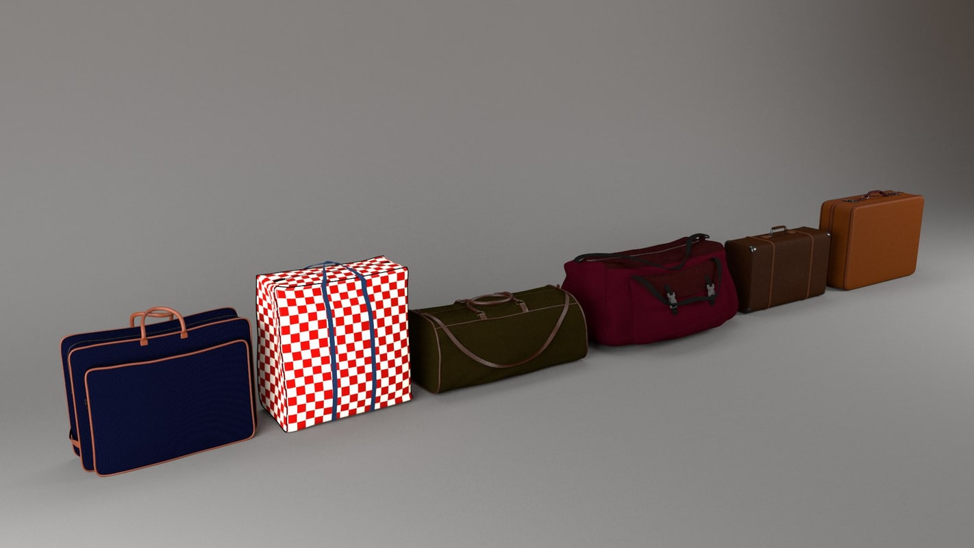 luggages fbx