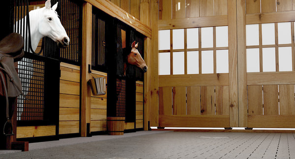 horse stable 3d model