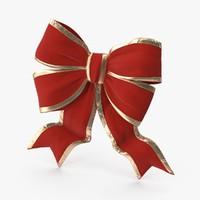 3d model christmas bow