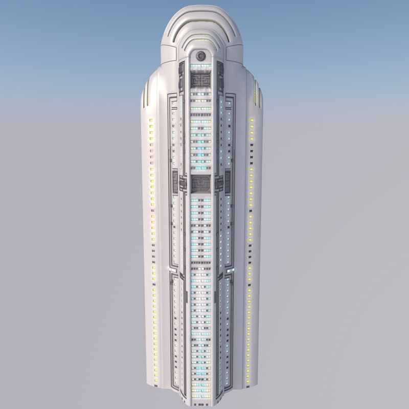 futuristic skyscraper c4d
