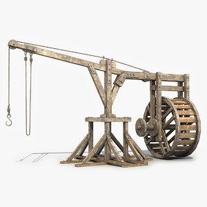 old wooden crane max