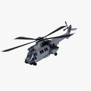 as332 super puma helicopter 3d 3ds