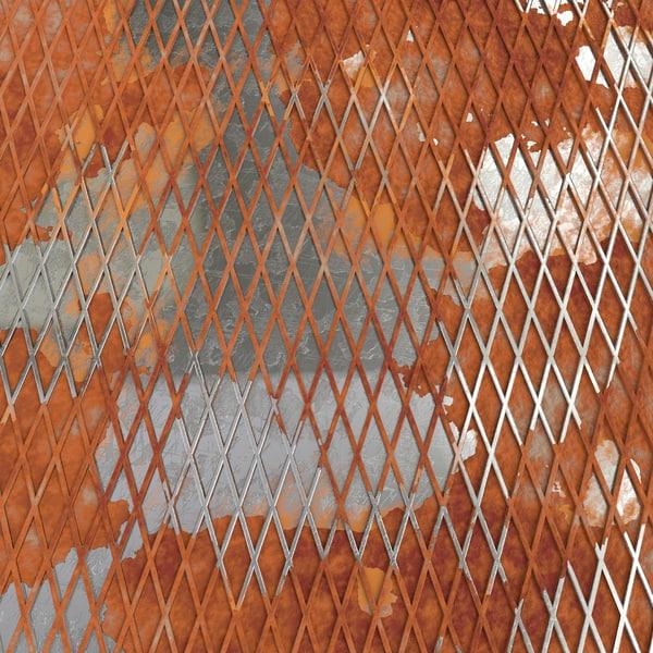 3d model weathered lattice plate