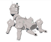 tank cyberpunk anime c4d