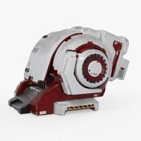 3d model sci-fi engine sci fi