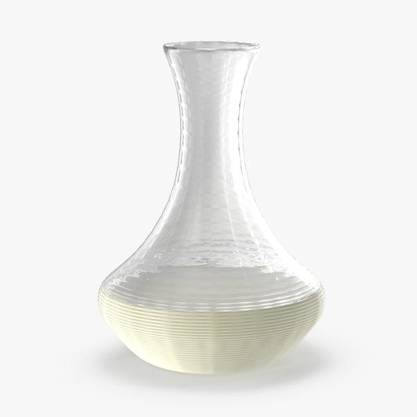 3d model wine decanter white