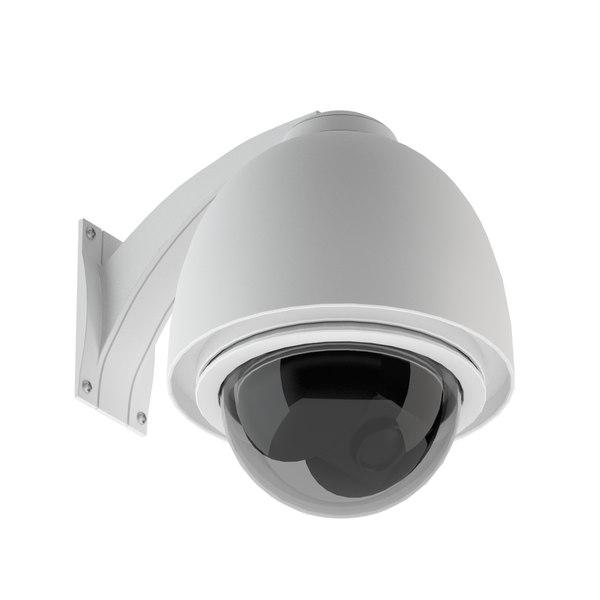 3d model security camera 02