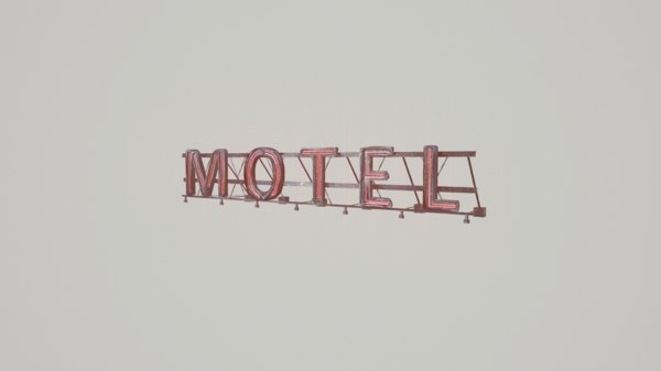motel sign obj