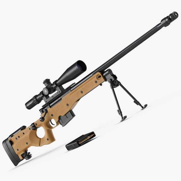 sniper rifle l115a3 3d model