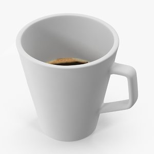 coffee cup 02 white 3d model