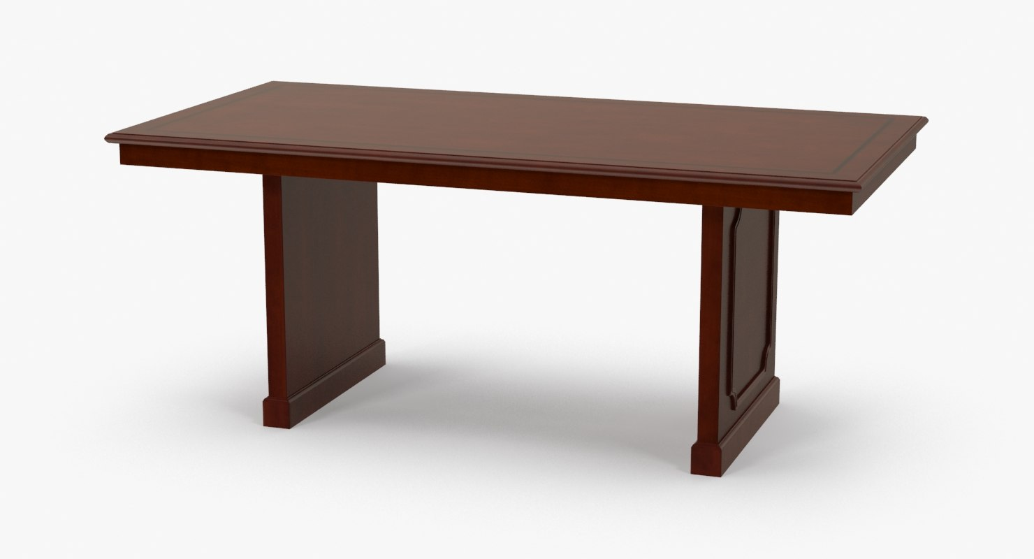 3d conference room table model