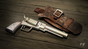wild west revolver holster 3d model