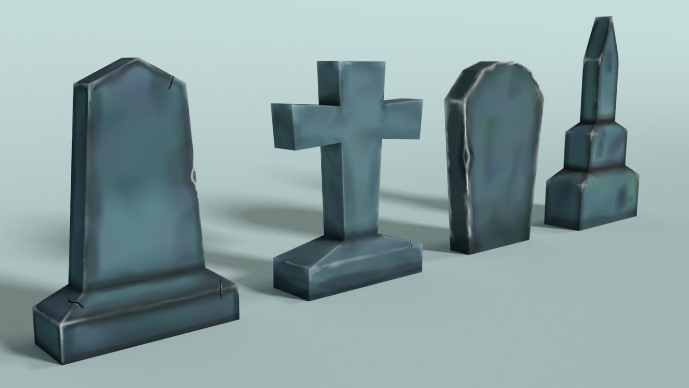 3d gravestones hand painted