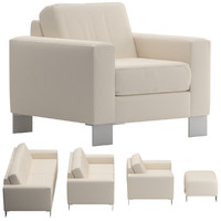 sofa set 02 3d obj