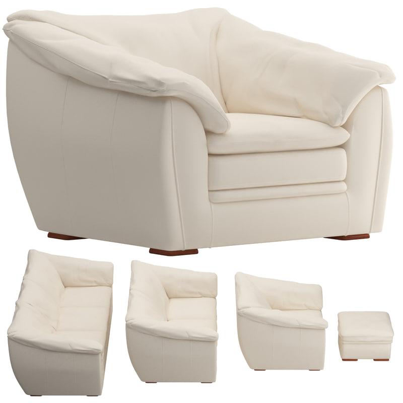 3d sofa set 03 model