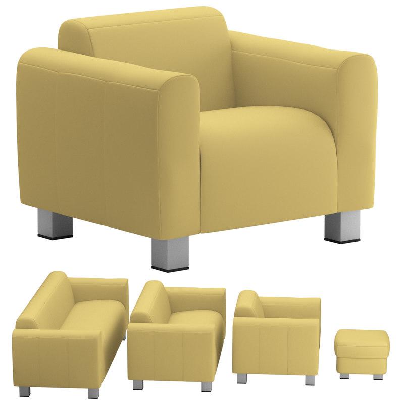 sofa set 08 3d obj