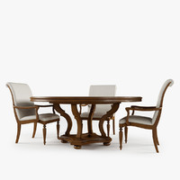 archivist dining table upholstered 3d max