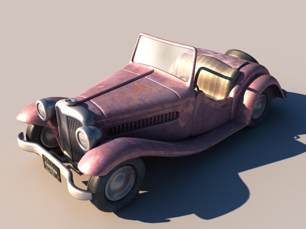3d old car model