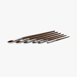 max paint brushes 01 set