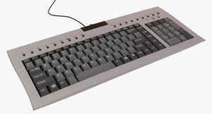 compact keyboard 3d model