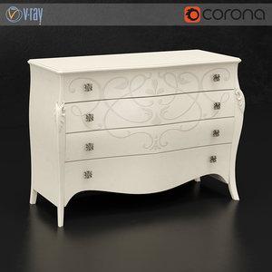 3d model chest drawers diva