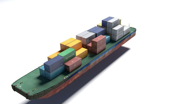 3d model barge container