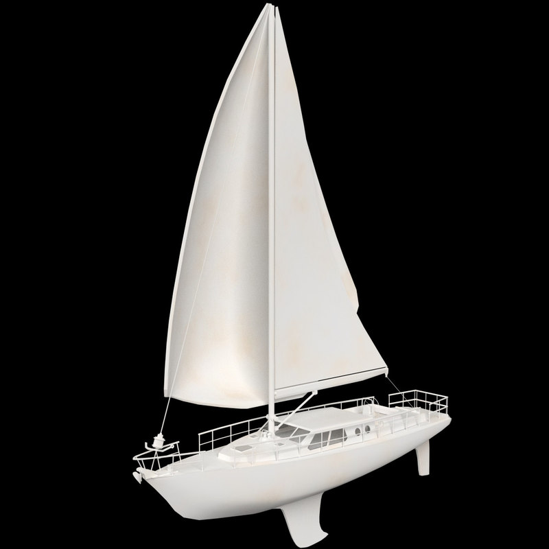 3d sailboat sail model
