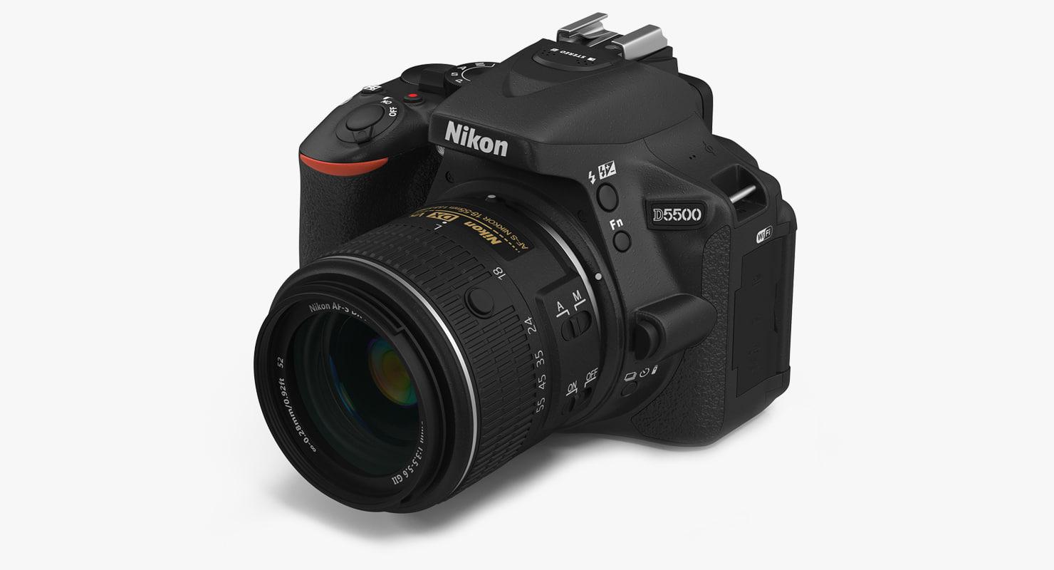 3d 3ds digital camera nikon d5500