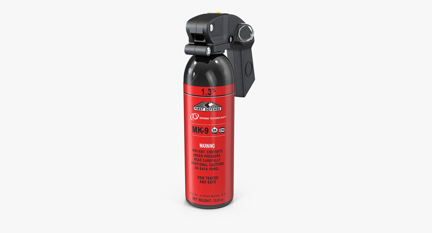 3d police pepper spray model