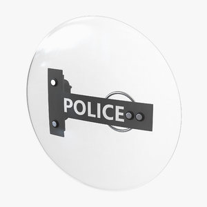 police anti riot shield c4d