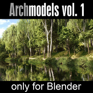 3d model archmodels blender vol 1