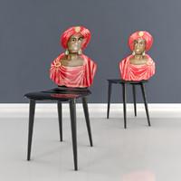 3d model moro chair