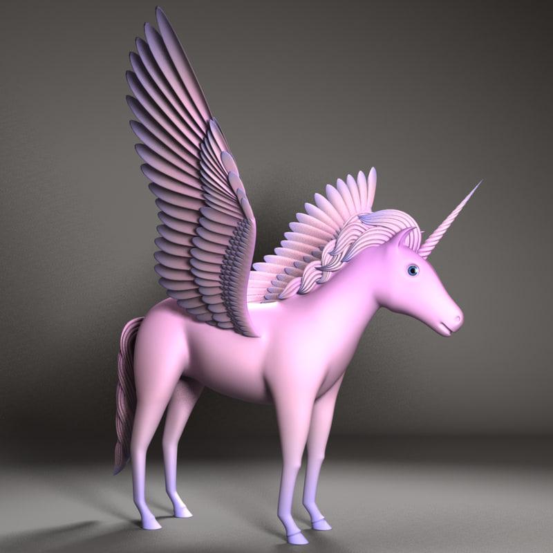 3d model unicorn