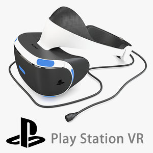 sony playstation vr 3d model