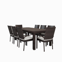 9-Piece Laurie Patio Dining Set in Espresso