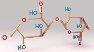 3d model pectin structure