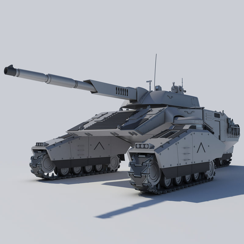 futuristic concept tank 3d model