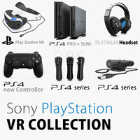 3d model 2017 sony vr playstation