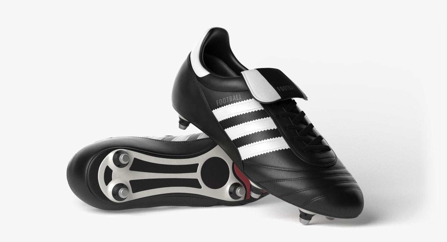 3d model photorealistic football boots