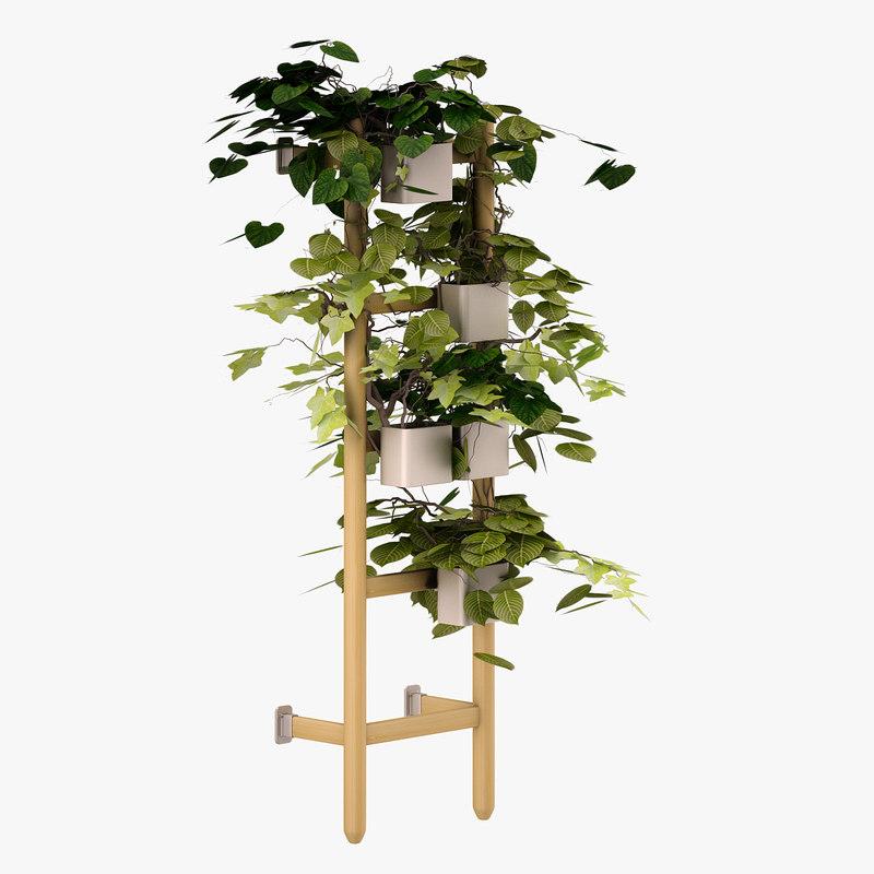 3d model satsumas flower bed