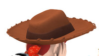 3d toy woody hat model