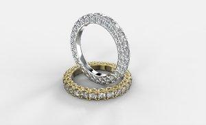 3d model ring hearts