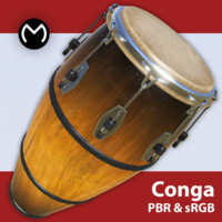3d model conga drum asset