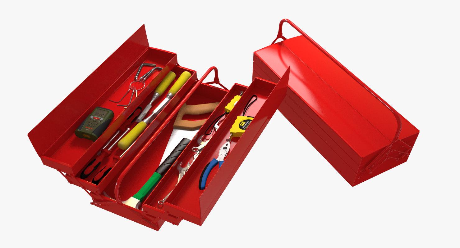 3d tools toolbox screwdriver
