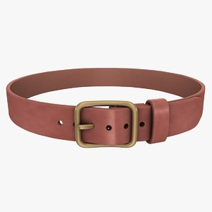 3d realistic belt 2 brown model