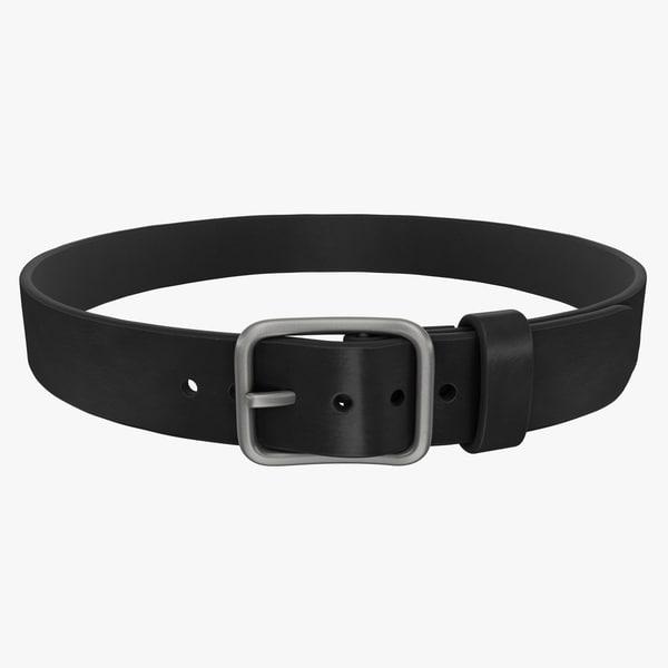 3d model realistic belt 2 black