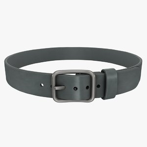 realistic belt 2 gray 3d model