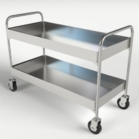 food beverage trolley cart 3d model