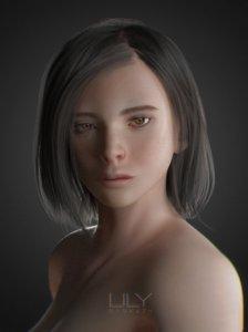realistic hair 3d fbx